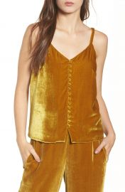 Madewell Velvet Button Camisole   Nordstrom at Nordstrom