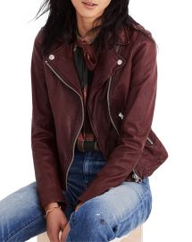 Madewell Washed Leather Moto Jacket at Neiman Marcus