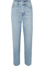 Madewell - The Curvy Perfect Vintage high-rise straight-leg jeans at Net A Porter