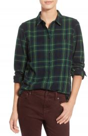 Madewell   x27 Ex Boyfriend - Barlow Plaid  x27  Cotton Shirt   Nordstrom at Nordstrom