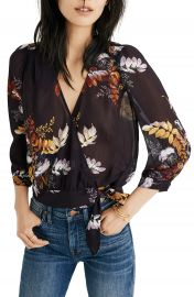 Madewell Blooming Oasis Wrap Top   Nordstrom at Nordstrom