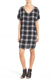 Madewell Buffalo Check Silk Zip Front Dress at Nordstrom