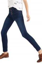 Madewell Button Front High Waist Skinny Jeans  Hayes   Regular  amp  Plus Size    Nordstrom at Nordstrom