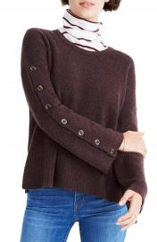 Madewell Button Sleeve Pullover Sweater at Nordstrom