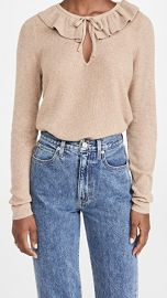 Madewell Catherine Ruffle Tie Neck Sweater at Shopbop