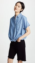 Madewell Chambray Tie Front Shirt at Shopbop