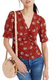 Madewell Daylight Fresh Daisies Silk Top at Nordstrom