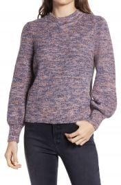 Madewell Eaton Space Dye Puff Sleeve Sweater   Nordstrom at Nordstrom