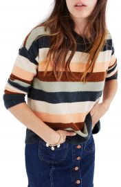 Madewell Elmwood Stripe Pullover Sweater at Nordstrom