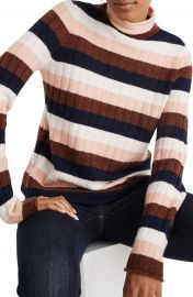 Madewell Evercrest Stripe Mock Neck Sweater  Regular  amp  Plus Size    Nordstrom at Nordstrom