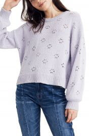 Madewell Floral Pointelle Pullover Sweater  Regular  amp  Plus Size    Nordstrom at Nordstrom