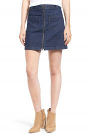 Madewell Front Zip Denim Miniskirt at Nordstrom