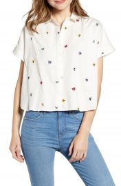 Madewell Hilltop Confetti Floral Embroidered Shirt   Nordstrom at Nordstrom
