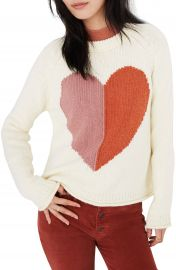 Madewell Keaton Heart Pullover Sweater   Nordstrom at Nordstrom