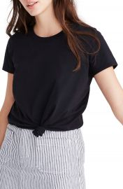 Madewell Knot Front Tee  Regular  amp  Plus Size    Nordstrom at Nordstrom