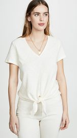 Madewell Modern V Neck Tie Front Tee at Shopbop