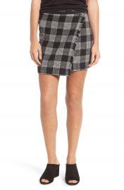 Madewell Plaid Wrap Miniskirt at Nordstrom
