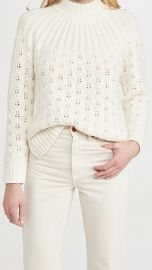 Madewell Pointelle Stitch Mix Mock Neck Sweater at Shopbop
