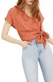 Madewell Polka Dot Sash Tie Wrap Top  Regular  amp  Plus Size    Nordstrom at Nordstrom