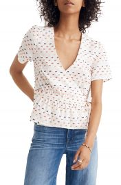 Madewell Ruffle Hem Wrap Top at Nordstrom