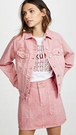 Madewell The Raglan Oversized Jean Jacket in Dusty Rose at Shopbop