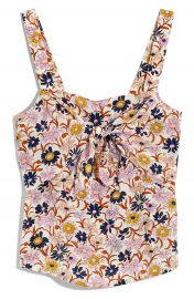 Madewell Tie Front Silk Camisole   Nordstrom at Nordstrom