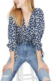 Madewell Tie Sleeve Button Down Top   Nordstrom at Nordstrom