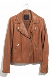 Madewell Washed Leather Moto Jacket   Nordstrom at Nordstrom