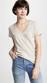 Madewell Whisper Cotton V Neck Pocket Tee at Shopbop