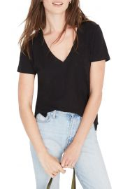 Madewell Whisper Cotton V-neck Tee at Nordstrom