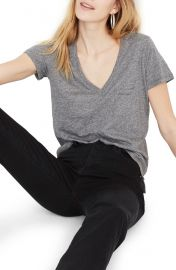 Madewell Whisper Cotton Vneck Tee at Nordstrom