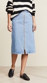 Madewell Zip Front Midi Skirt at Shopbop