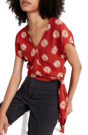 Madewell daisy daydream tie wrap top at Nordstrom