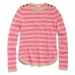 Madewell pink striped sweater at Madewell