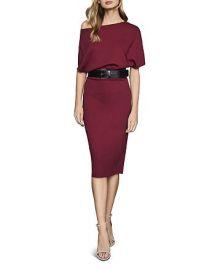 Madison Cap-Sleeve Bodycon Dress at Bloomingdales