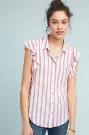 Maeve Fairhope Striped Buttondown at Anthropologie