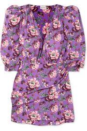 Magda Butrym - Faro wrap-effect floral-print crepe de chine mini dress at Net A Porter
