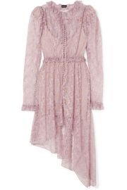 Magda Butrym   Morelia asymmetric ruffled silk-lace dress at Net A Porter