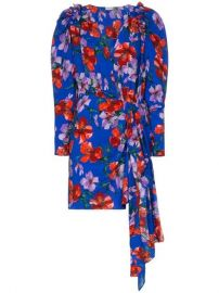 Magda Butrym Lagos Floral Print Ruched Silk Mini Dress - Farfetch at Farfetch