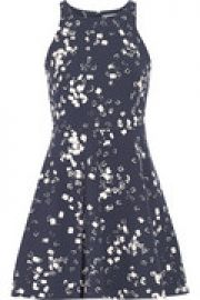 Magdalena printed stretch-crepe mini dress at The Outnet