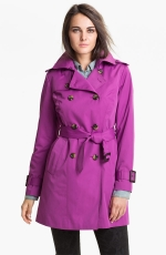 Magenta trench coat by London Fog at Nordstrom