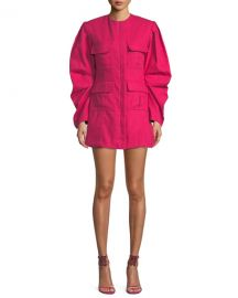 Maggie Marilyn Do Whatever It Takes Structured Tucked-Sleeve Dress at Neiman Marcus