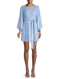 Maggie Sash Sequin Mini Dress at Saks Fifth Avenue