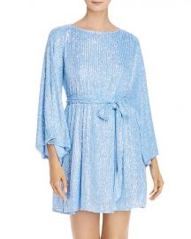 Maggie Sequined Belted Dress at Bloomingdales