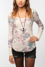 Maggie's floral thermal top at urban Outfitters at Urban Outfitters
