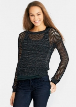 Maggie's open knit sweater on The Carrie Diaries at Delias