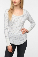 Maggie's printed thermal top at urban Outfitters at Urban Outfitters