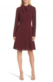 Maggy London Crepe Bow Fit   Flare Dress  Regular   Petite at Nordstrom