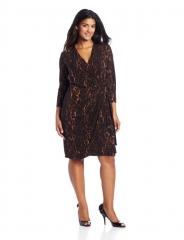 Maggy London Leopard Wrap Dress at Amazon