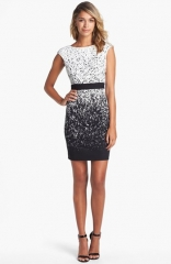 Maggy London Print Ponte Knit Sheath Dress at Nordstrom